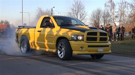 Dodge Ram Rumble Bee   Massive Burnouts!!   YouTube