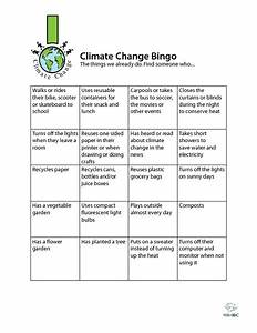 Climate Change Bingo Activities & Project for 4th - 7th ...