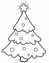 Tree Christmas Coloring Pages Trees Blank Snowy Outline Printable Template Print Templates Comments Printablee Coloringhome sketch template