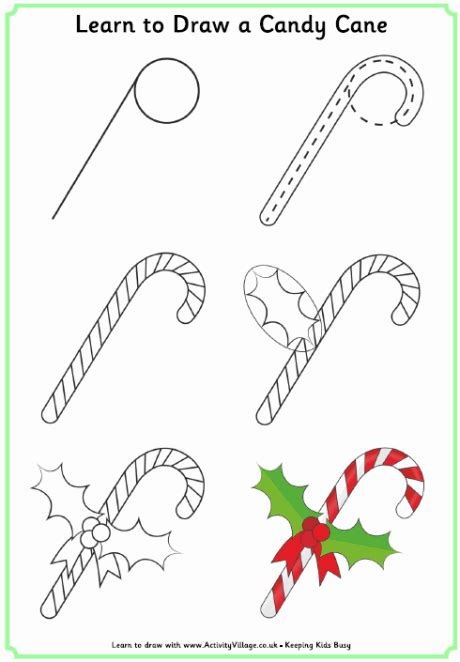 learn  draw  candy cane   draw   xmas