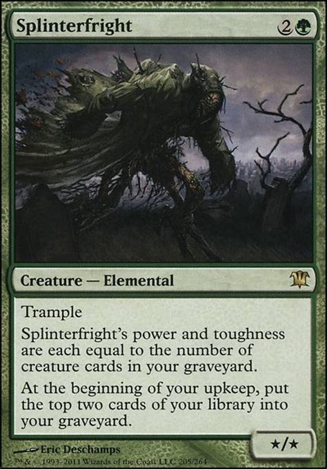 mtg mill deck tapped out splinterfright isd mtg card