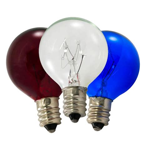 10 watt c7 patriotic globe light bulb pack