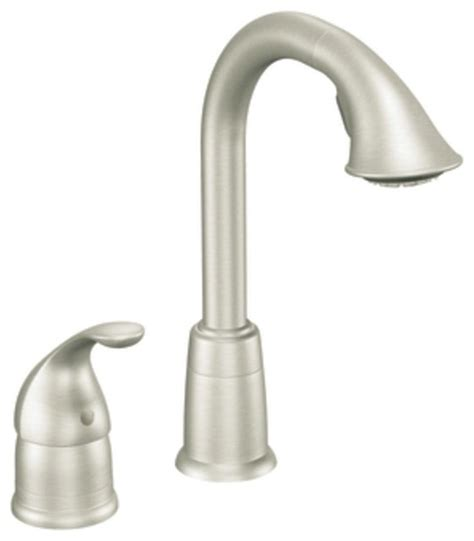 moen bar sink faucet moen 5955csl camerist single handle high arc pulldown bar