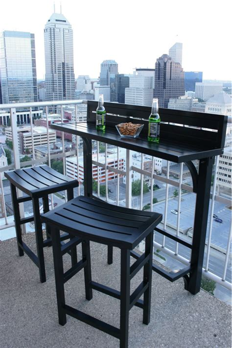 small outdoor pub table balcony chair and table design ideas for urban outdoors