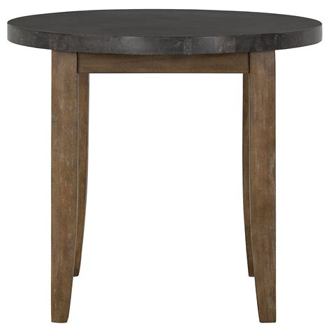 high round dining table city furniture emmett stone round high dining table