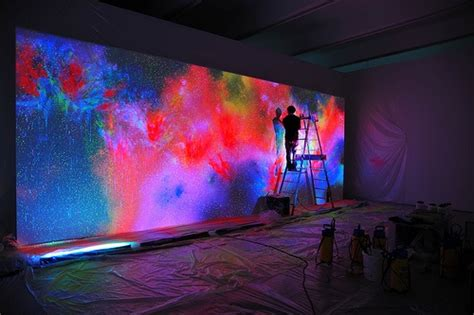 Trippy Neon Painting [pic]. Painting House Exterior Colors Faux Venetian Plaster Paint Textured Spray Sherwin Williams Chart Preparation Berger Paints Shade Card Beach