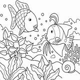 Ocean Coloring Pages Scene sketch template