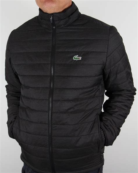 black quilted vest lacoste sport quilted jacket black s puffa puffer