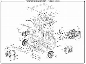 Powerstroke Ps906025 Powerstroke 6 000 Watt Generator
