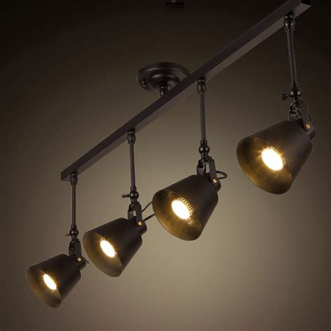 country ceiling fans with vintage loft ceiling light 1 2 3 4head creative loft track