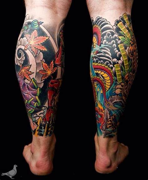 japanese dragon tattoo calf images  pinterest
