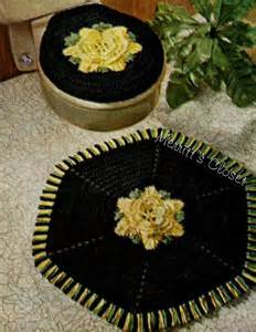 items similar to rose flower bathroom set rug seat