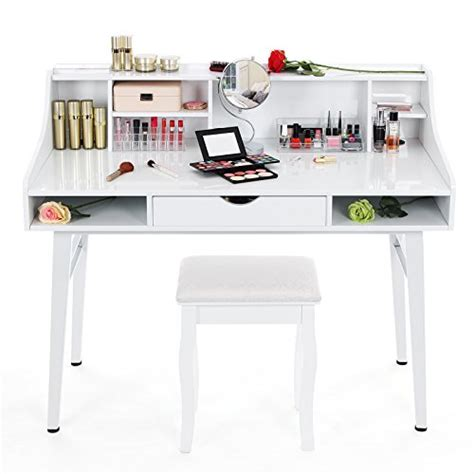coiffeuse bureau songmics bureau informatique coiffeuse table de maquillage