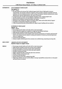 It Product Specialist Resume Samples