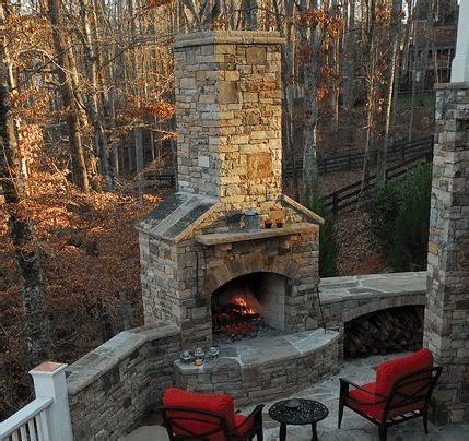 Outdoor Wood-Burning Fireplace