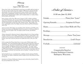 best photos of funeral program wording sles funeral