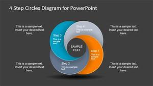 4 Step Circles Diagram For Powerpoint