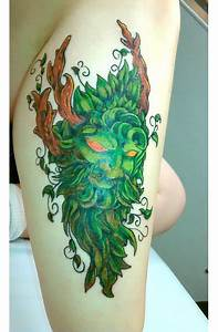 Green Man Tattoo Idea