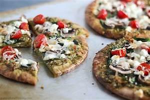 Easy Pesto Pita Bread Pizzas - Yummy Healthy Easy