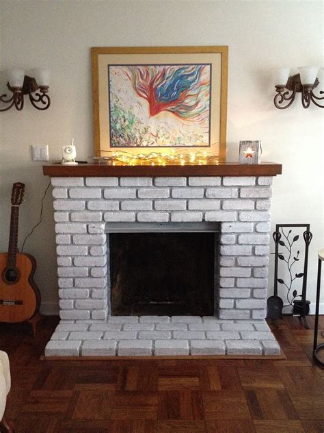 Easy Brick Fireplace Makeover - easy fireplace makeover whitewash the brick hometalk