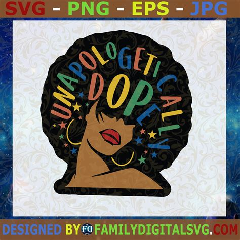Extended commercial licenses are available for volumes over 200+ sales. #Unapologetically Svg Afro girl svg, Strong woman svg ...