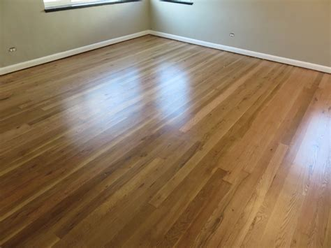 red white oak mix natural waterbased finish
