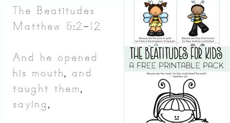 the beatitudes for preschoolers bible printable packs for 470