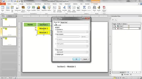 how to add template to powerpoint create a dropdown navigation menu in powerpoint