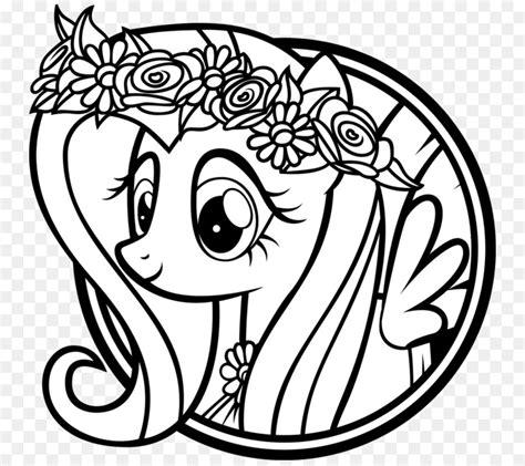 Coloring Kuda Poni by Gambar Kuda Hitam Putih Mewarnai Buku Gambar Fluttershy