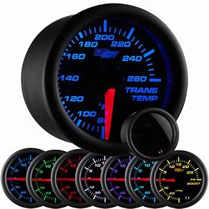 52mm Glowshift Tinted 7 Color Led Trans Temp Gauge W