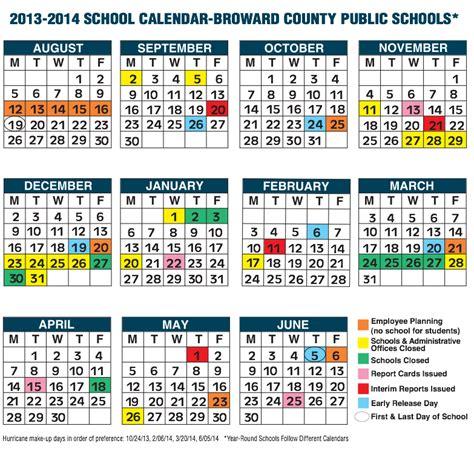 broward county school calendar
