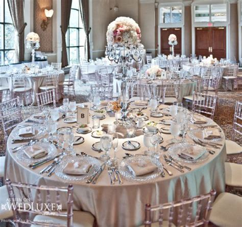 silver table decorations silver wedding theme archives weddings romantique