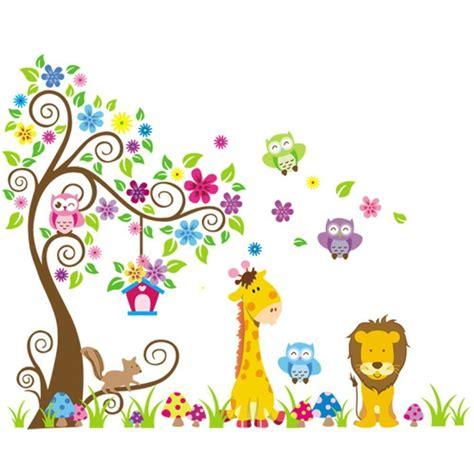 Wandtattoo Kinderzimmer Löwe by Rainbow Fox Wandtattoo Wandsticker Eule Baum Giraffe L We