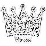 Crown Coloring Princess Pages Tiara Netart Template Printable Queen Colouring Sheets Drawing King Outline Am sketch template