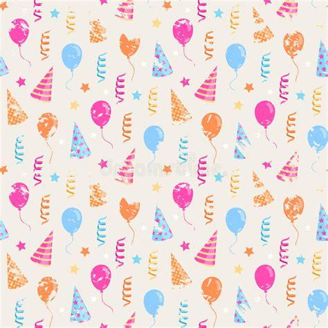 happy birthday grunge pattern stock vector illustration