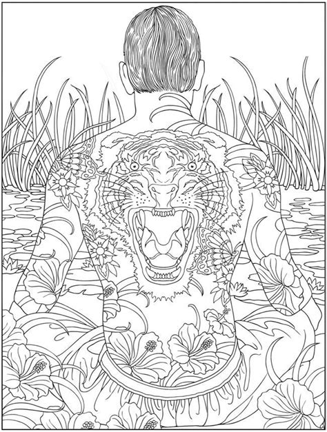 Awesome Tattoos for Men and Women | Adult coloring pages