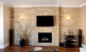 pierre murale decorative naturelle briquettes With pierre deco interieur murale