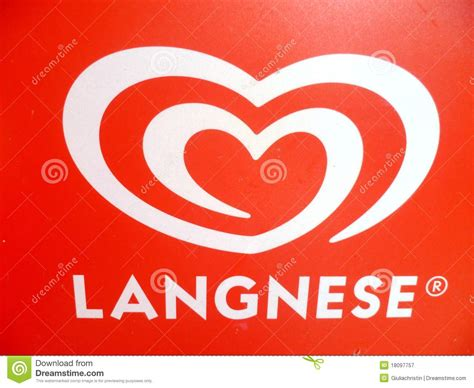 Red And White Langnese Logo Editorial Photography