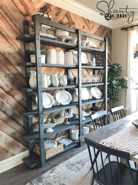 diy modern farmhouse plate rack shanty  chic