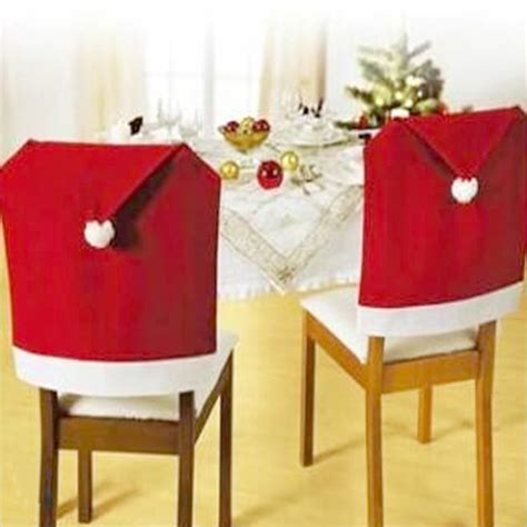 hot sale 4 pcs 2015 new fashion santa clause red hat chair
