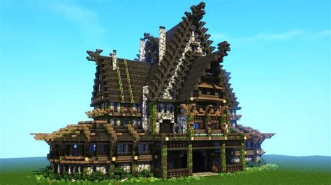 minecraft viking house tutorial nordic  rustic mansion viking house minecraft medieval