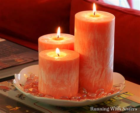 Candles For Home Decor: DIY Crystallized Pillar Candles