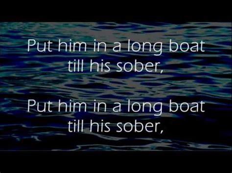 drunken sailor irish rovers lyrics youtube