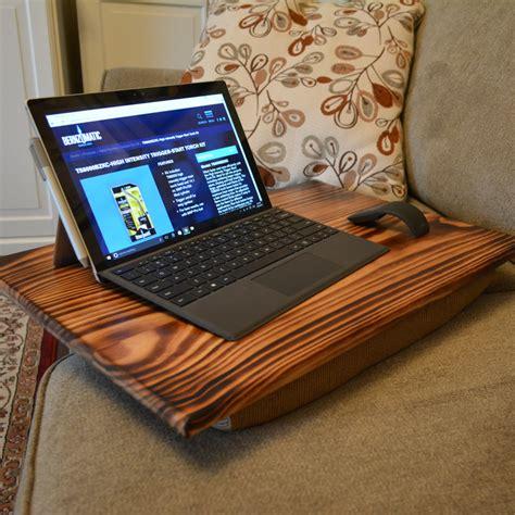 diy lap desk pillow diy lap desk with burned wood finish az diy guy