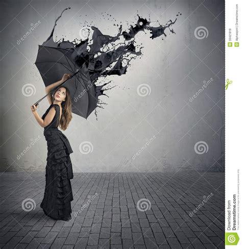 Black Color Splash Stock Photo Image Of Reject Effect