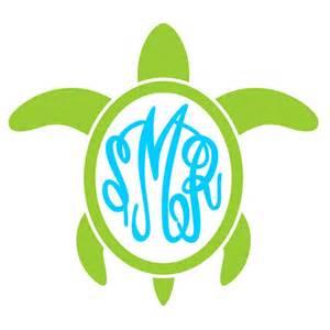 Turtle SVG Monogram Designs