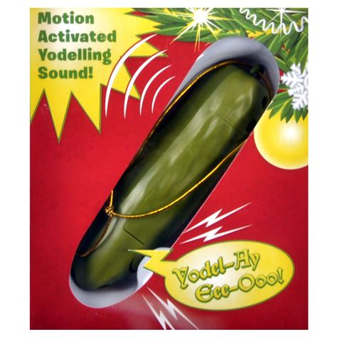 motion activated decorations uk electronic yodelling pickle decoration motion activated