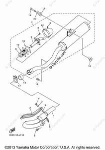 Yamaha Motorcycle 2012 Oem Parts Diagram For Exhaust