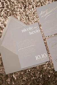 neutral color scheme romantic cynthia rose gold foil With rose gold and gray wedding invitations