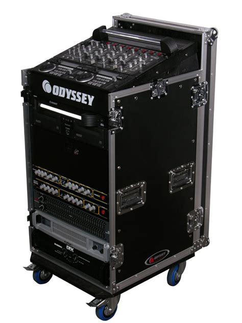 odyssey cases fzw  ata combo rack flight case dj